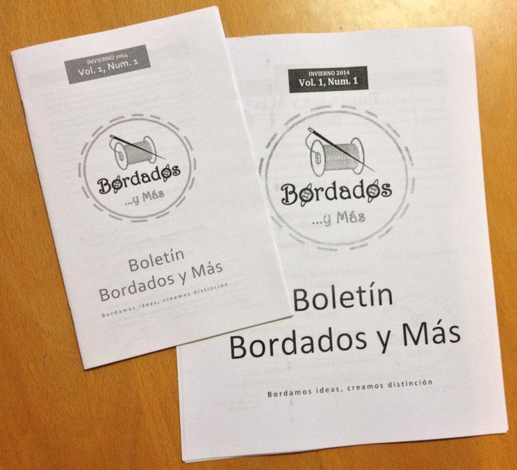 Los dos formatos del Boletín de Bordados y Más